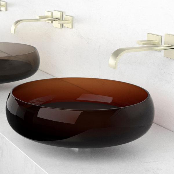 Lavoar plat din sticlă de Murano, Glo Ball Murano