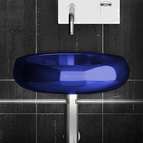 Lavoar geometric albastru pentru baie Glo Ball