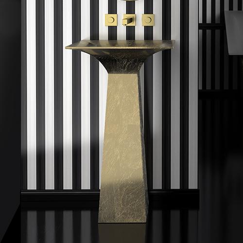 Lavoar auriu de lux pentru baie înalt Roma Alto