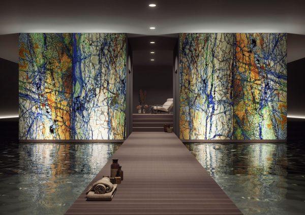 Panou decorativ de lux piscină Alpha Centauri